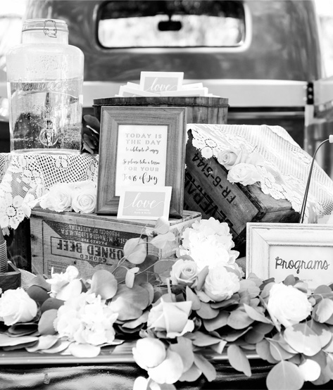 vintage event decor